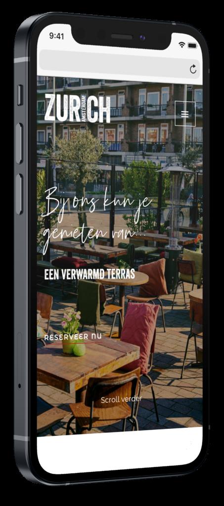 Cafe zurich mobiele website