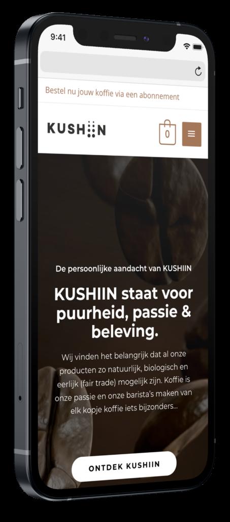 Kushiin mobiele website