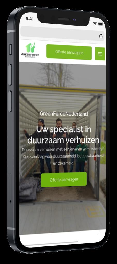 Greenforce nederland mobiele website