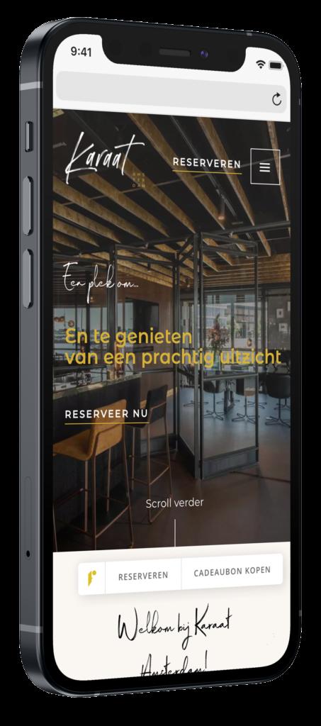 Karaat Amsterdam mobiele website