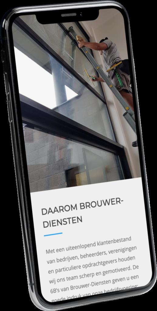 Brouwer diensten mobiele website ontwerp