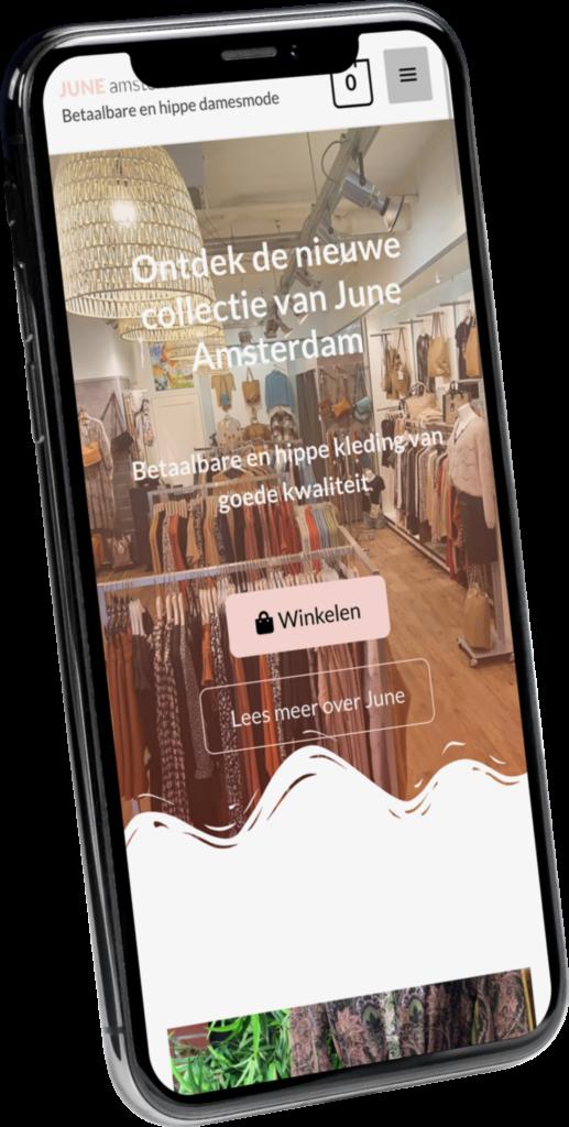 June amsterdam mobiele website