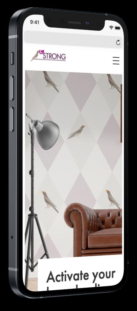 Cstrong mobiel mockup