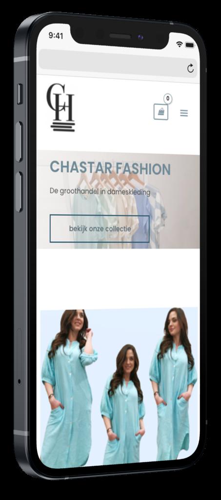 Fashion Chastar mobiele webshop op iphone