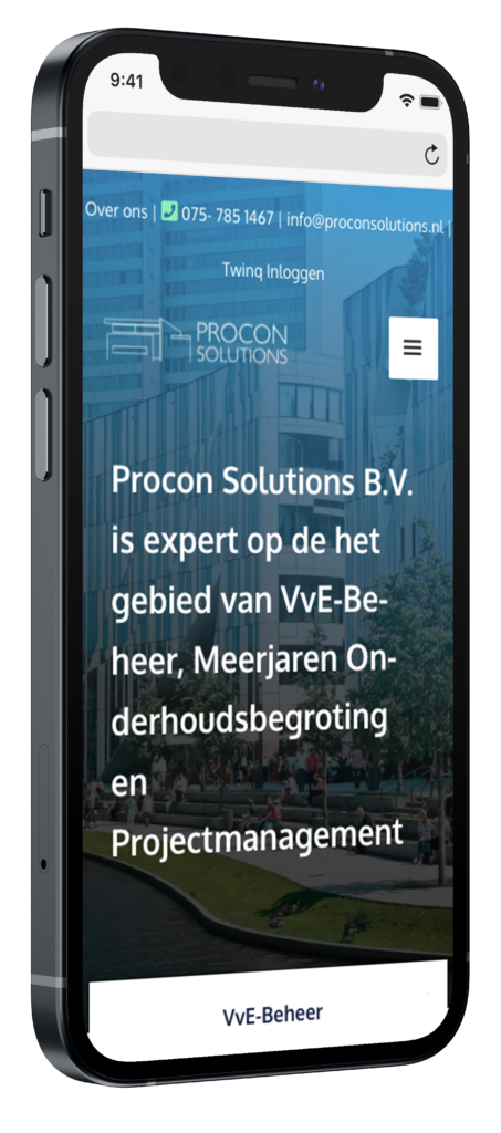 Procon solutions mobiele website