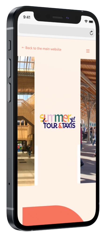 Summer of tour & taxis mobiele website op iphone