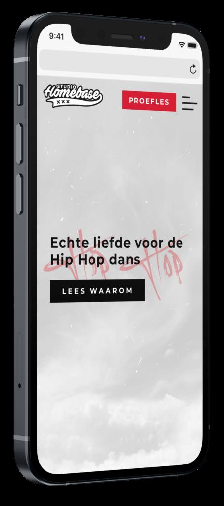 Homebase hip hop website voorbeeld