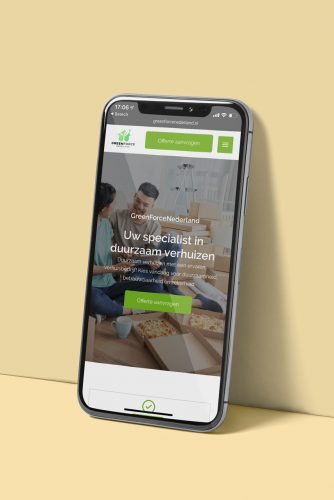 Greenforce Nederland De Onliners mobiel website ontwerp