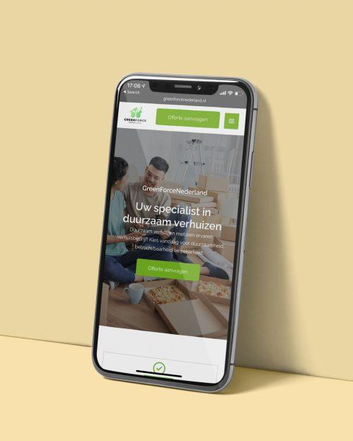 Freenforce Nederland De Onliners mobiel website ontwerp